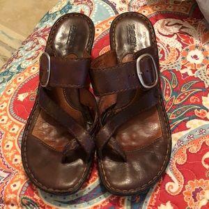 Born buckle strap sandals